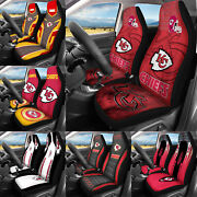 Kansas City Chiefs Car Seat Covers Universal Fit 2 Pack Gifts For Football Fans