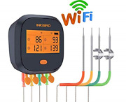 Inkbird Wifi Grill Thermometer Ibbq-4t Rechargeable Wireless Bbq Thermometer 4