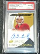 2012 Upper Deck Ud Exquisite Collection Andrew Luck Auto D/99 Signed Rc Psa 10