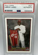 Lebron James 2003 Topps Rookie Card 221 🔥investment Card🔥psa/dna Authentic