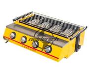 Commercial 4 Head Et-k222 Gas-fired Grill Smokeless Barbecue Machine New