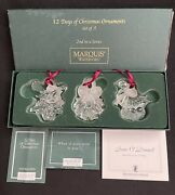 Waterford Marquis 12 Days Of Christmas Set/3 Ornaments 2nd Series Sean O'donnell