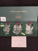 Waterford Marquis 12 Days Of Christmas Set/3 Ornaments 1st Series Sean O'donnell