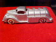 Antique Hubley Gas Oil Tanker Cast Iron Silver Red Truck New Condition