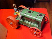 Antique Gunthermann Sg Tin Litho Tractor Driver 1920and039s Clock Work Windup Working