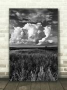 Vertical Canvas Black And White Iowa Landscape Wall Art Nature Photography