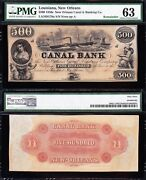 Amazing Choice Unc 1850s 500 New Orleans La Canal And Banking Co. Note Pmg 63