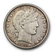 1908 O 50c Barber Half Dollar Very Fine To Extra Fine New Orleans Mint 1526