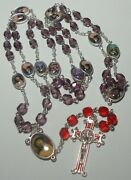 Handmade In The Usa Stations Of The Cross Rosary Chaplet W/ Color Picture Medals
