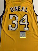 Shaquille Oandrsquoneal Signed Jersey Psa/dna Coa Los Angeles Lakers Diesel Hof Adult L