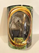 2001 Lord Of The Rings Action Figure Gimli The Dwarf Toybiz Battle Axe Ring Base