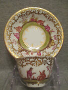 Meissen / Dresden Porcelain Chinoiserie Tea Bowl And Saucer. No1