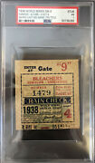 1938 World Series Clinching Game 4 Ticket Stub Lou Gehrig Last Ws-nyy 7th🏆psa🔥