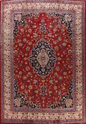 Antique Vegetable Dye Kashmar Floral Area Rug Hand-knotted Large Carpet 10and039x12and039