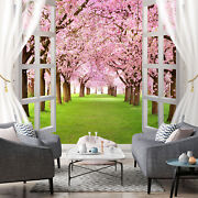 3d Window Cherry Kep1616 Wallpaper Mural Self-adhesive Removable Sticker Bea