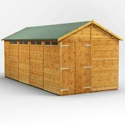18ft X 8ft Apex Security Shed - Fully Tongue And Groove - Double Doors - 18x8