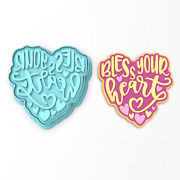 Bless Your Heart Cookie Cutter And Stamp   Valentines Day Southern Blessing Sweet