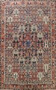 Antique Vegetable Dye Garden Design Bakhtiari Area Rug Hand-knotted Wool 11and039x13and039