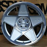 18 18x9.5 5x112 Et40 3sdm 0.05 Machine Silver Cut 5 Spoke Star Tuner Wheels Set