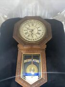 E.n. Welch Star Pointer Calendar School House Clock 1890's Serviced And Working
