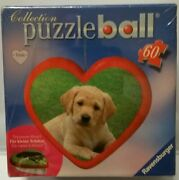 Ravensburger 60-piece Red Heart Shaped Puzzle Ball Valentine, Ornament In Box