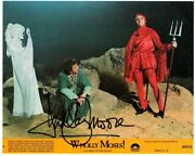 R-john Ritter /dudley Moore Autographed Color Photo From Wholly Moses W./coa