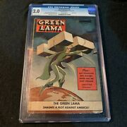 Green Lama 6 Spark Publications 1945 Wwii Cover Classic Mac Raboy Cgc
