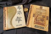 Hawaiian Souvenir Lot Two Photo Albums And Vintage Stamp Roll Dispenser Free S/h
