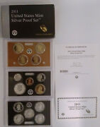 2011 Us Mint Silver 14 Coin Silver Proof Set  Box And Coa    Mg