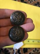 Wwi Us Great Seal Coat Buttons C. Kenyon Co. New York Approx 1 Set Of 2