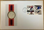 1980 Hungary 200 Forint Silver Proof Coin Lake Placid Olympics First Day Cover