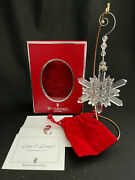 Waterford 2004 Snow Crystal Faceted Christmas Ornament Signed Sean O'donnell