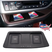 Qi Wireless Dual Car Center Dash Phone Charger Pad For 15-19 Toyota Highlander