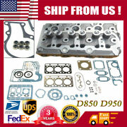 D850 D950 Complete Cylinder Head Loaded And Full Gasket Set For Kubota Tractor New
