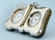 Watch, Barometer And Thermometer Desk Set