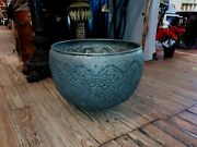 Antique Middle Eastern Islamic Tinned Copper Large Pot Planter