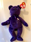 Rare 1st Edition 1997 Ty Princess Diana Beanie Baby Made In China P.e. Pellets