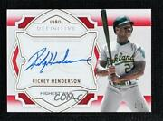 2020 Definitive Collection Defining The Decade Red 1/1 Rickey Henderson Auto Hof