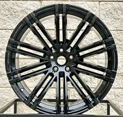 21 Porsche Macan S Turbo Mesh Style Staggered Wheels Tires Tpms Gts Black