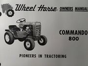 Wheel Horse Commando 800 3-speed Lawn Garden Tractor Owner And Parts 2 Manual S