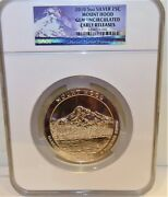 2010 Mount Hood 5 Oz Silver Quarter 25c Ngc Gem Unc Early Releases Free Shipping