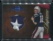2010 Plates And Patches Tom Brady Team Supreme Logo Patch Blue 37/50 1/1 Star