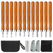 12 Pcs Wood Carving Kit Tools Hand Chisel Set The Perfect Gift For Beginners