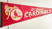 Vintage 1960's St. Louis Cardinals Pennant Full Size Very Colorful