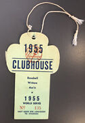 1955 World Series Yankees Clubhouse Press Pass Yankees Vs Dodgers🔥dodgers 1st🏆