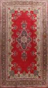 Antique Floral Tebriz Hand-knotted Area Rug Palace Size Oriental Carpet 11and039x18and039