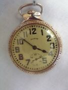 Illinois Bunn Special 60 Hour Rail Road Gold Filled Pocket Watch Very Nice A