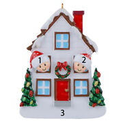 Free Customized-personalized Ornaments Christmas White House Family Of 2 3 4 5
