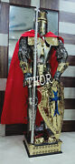 Medieval Stainless Steel Rust Free Brass And Black Antique Fnish Armor Costume