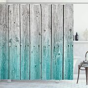 Ambesonne Rustic Shower Curtain, Wood Panels Background Digital Tones Effect Cou